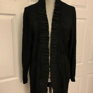 STYLE & Co Macys black open cardigan 2x flattering